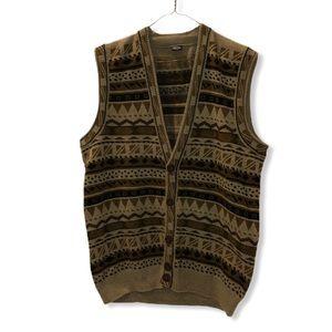 Vintage patterned grandpa vest